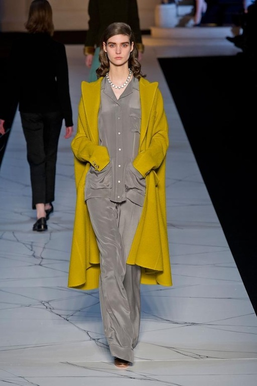 Rochas showed you only need to throw a coat over pj's