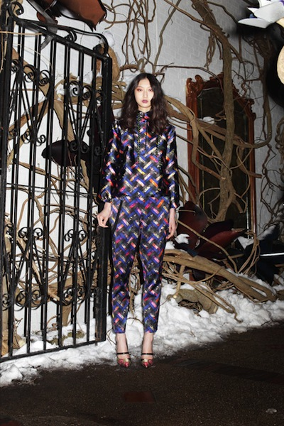 Cynthia Rowley's matching prints were pj-esque