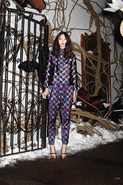 Cynthia Rowley's matching prints were pj-esque
