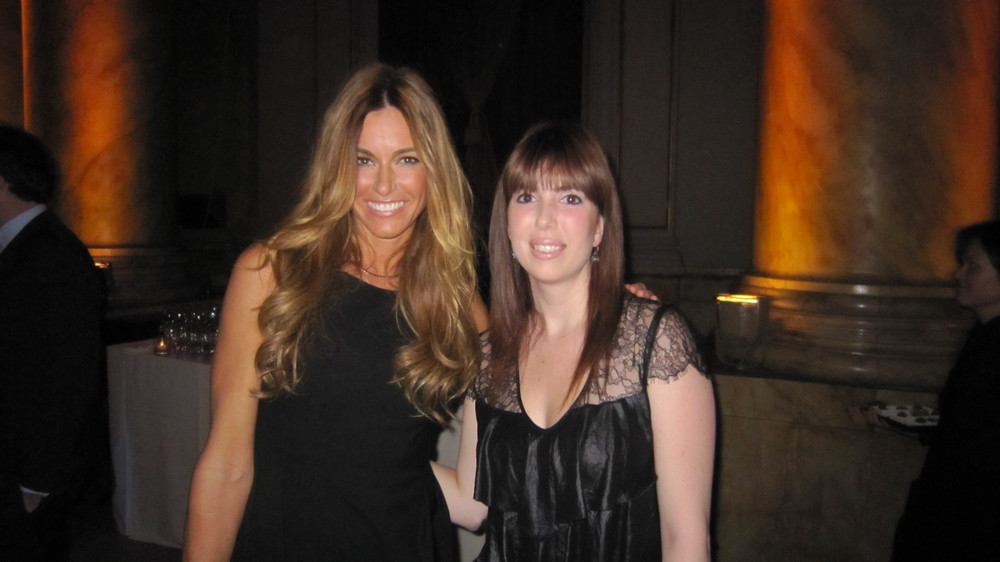 The very tall Kelly Bensimon and myself.