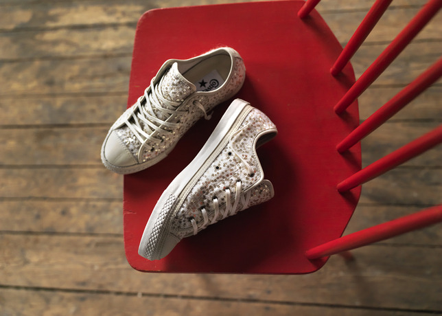 Chuck Taylor All Star Glitz (Also Available in Black, Suggested Retail Price: $100)