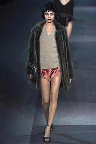 "Louis Vuitton's FW/2013 collection featured a distinct ""boudoir"" vibe. Photo: Yannis Vlamos/InDigitalteam/GoRunway.com"