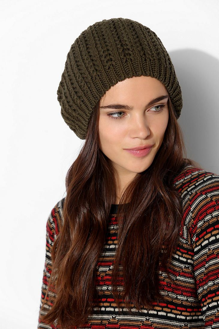 UO Pointelle Slouchy Beanie