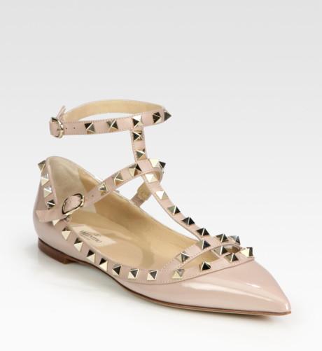 Valentino Garavani Rockstud Ballerina flats, $895.00