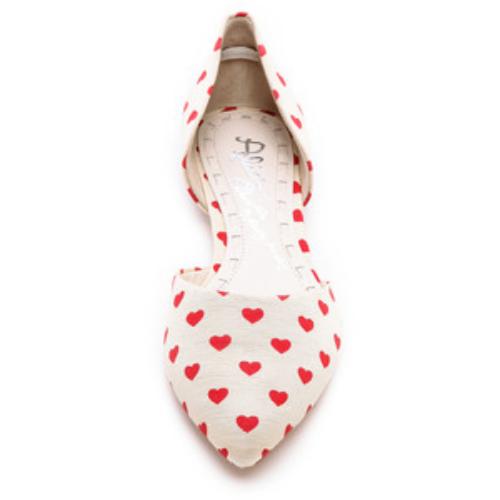 Alice+Olivia Hilary Heart D'Orsay Flats, $240.00