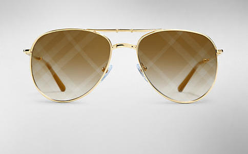 Burberry Spark Foldable Aviator with Checked Lenses, $280.00