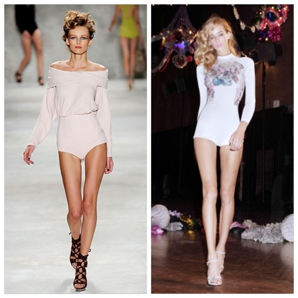 Derek Lam Spring 2010 (left), Cynthia Rowley Spring 2014 (right)