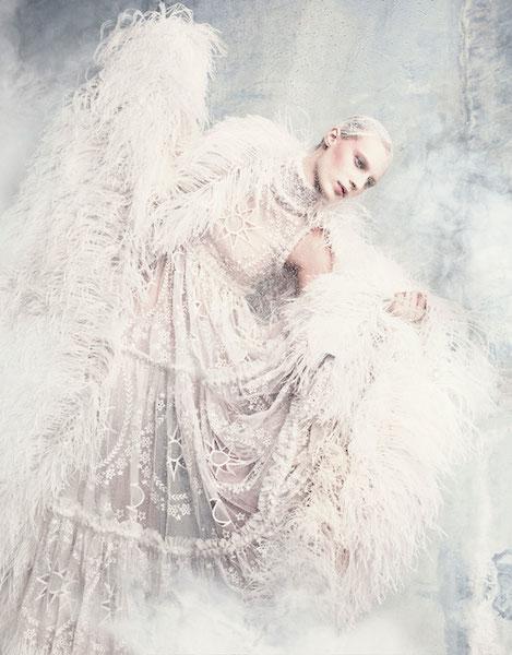 Julia Nobis wearing Alexander McQueen