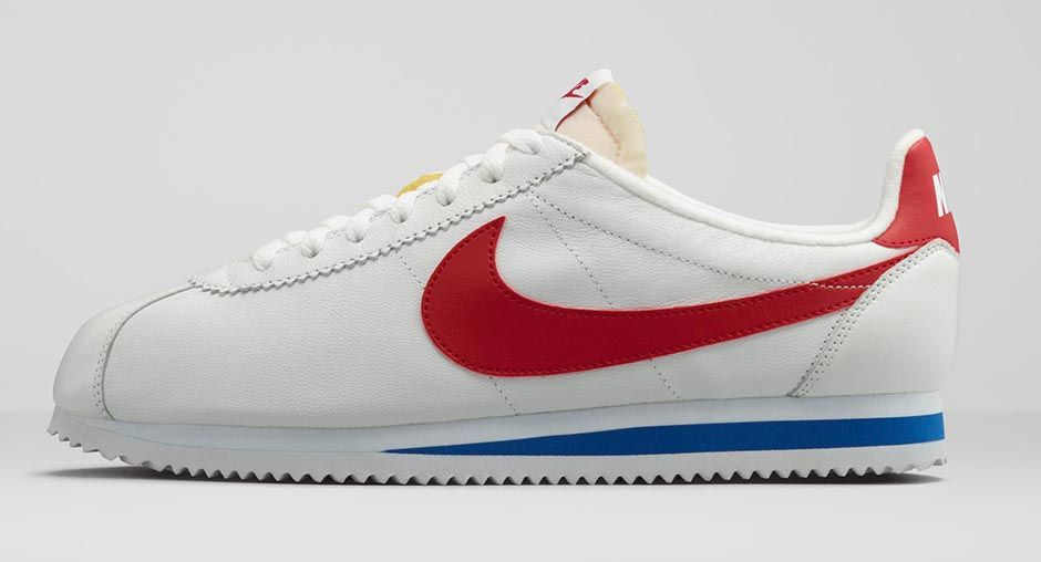 The Nike Cortez Classic in red, white, and blue, originally released in 1972 is back in stores.