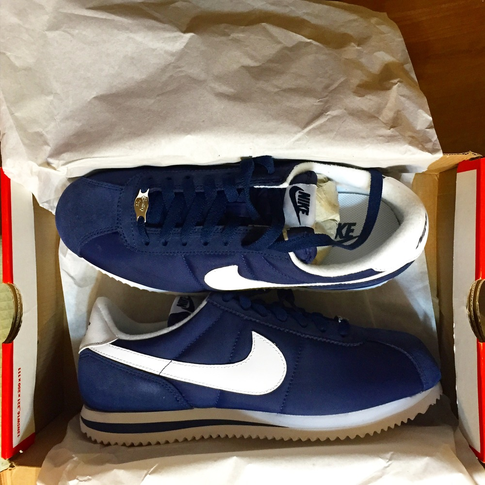 I ordered by Cortez Classics in navy (available for $65 at Nike.com)