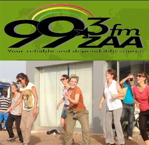 Flash Mob Hits Tamale     ZAA RADIO 99.3 FM  May 2013