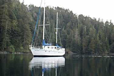 54' ketch  Arcturus  at anchor.