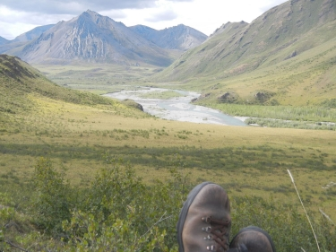 Overlooking the Kongakut River in the northeast corner of the Arctic National Wildlife Refuge.  Photos can be helpful for recalling moments like this, but the best pictures are the ones we paint and later revisit in our minds.