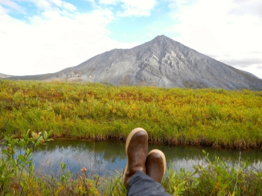 "The author with ""boots on the ground"" in the Arctic National Wildlife Refuge."