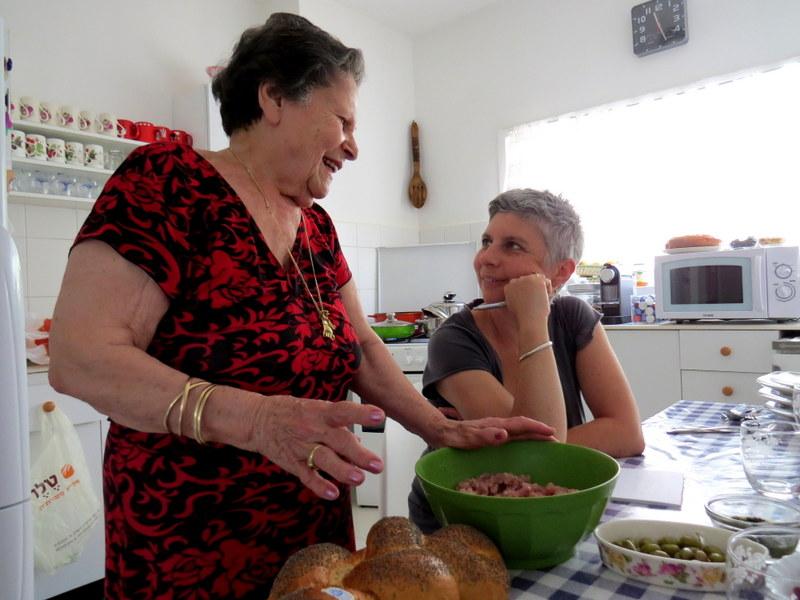 Rina Mevorach and her daughter-in-law Michele Mevorach
