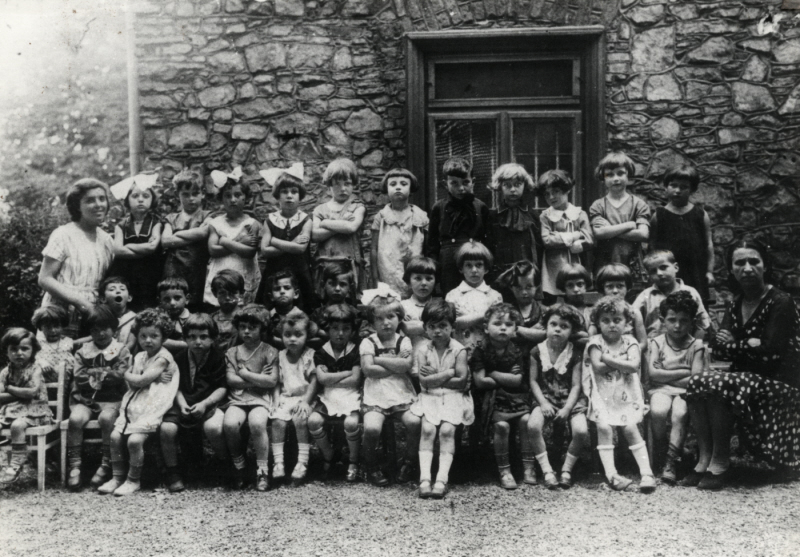 A Jewish kindergarten in Chrzarnow 1931. Few of these children, if any, would survive World War Two.