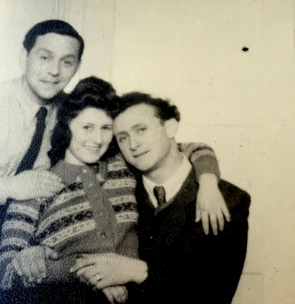 Berta and Bernie, and her cousin Gerhard who had survived the War, reunited in Munich