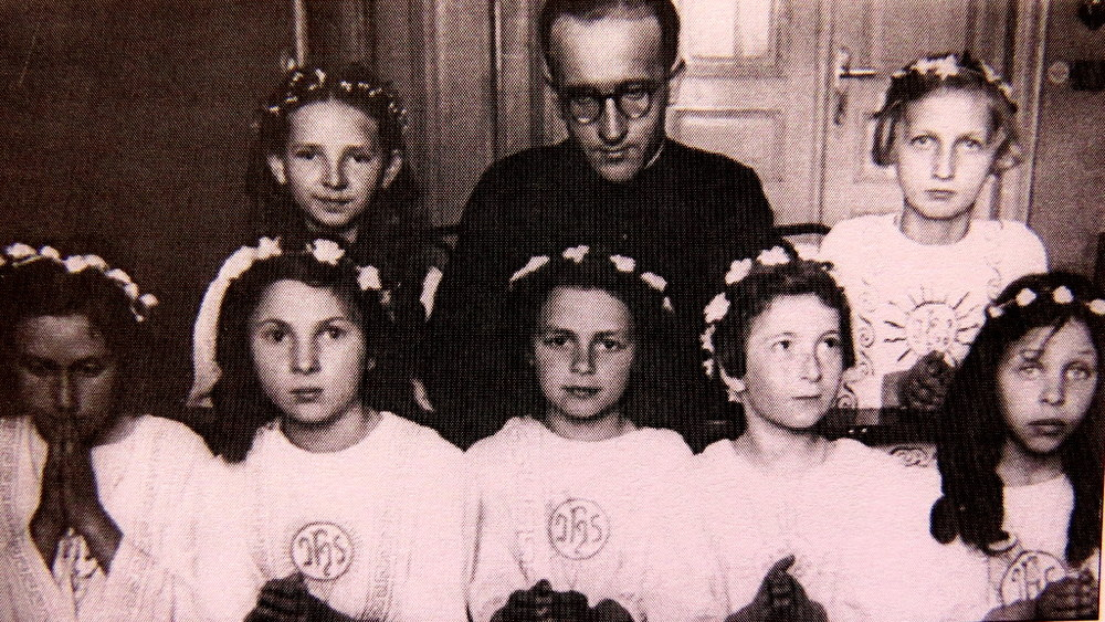 Judy's sister Tosia, front row, second from left. There are 3 other Jewish girls in the front row.