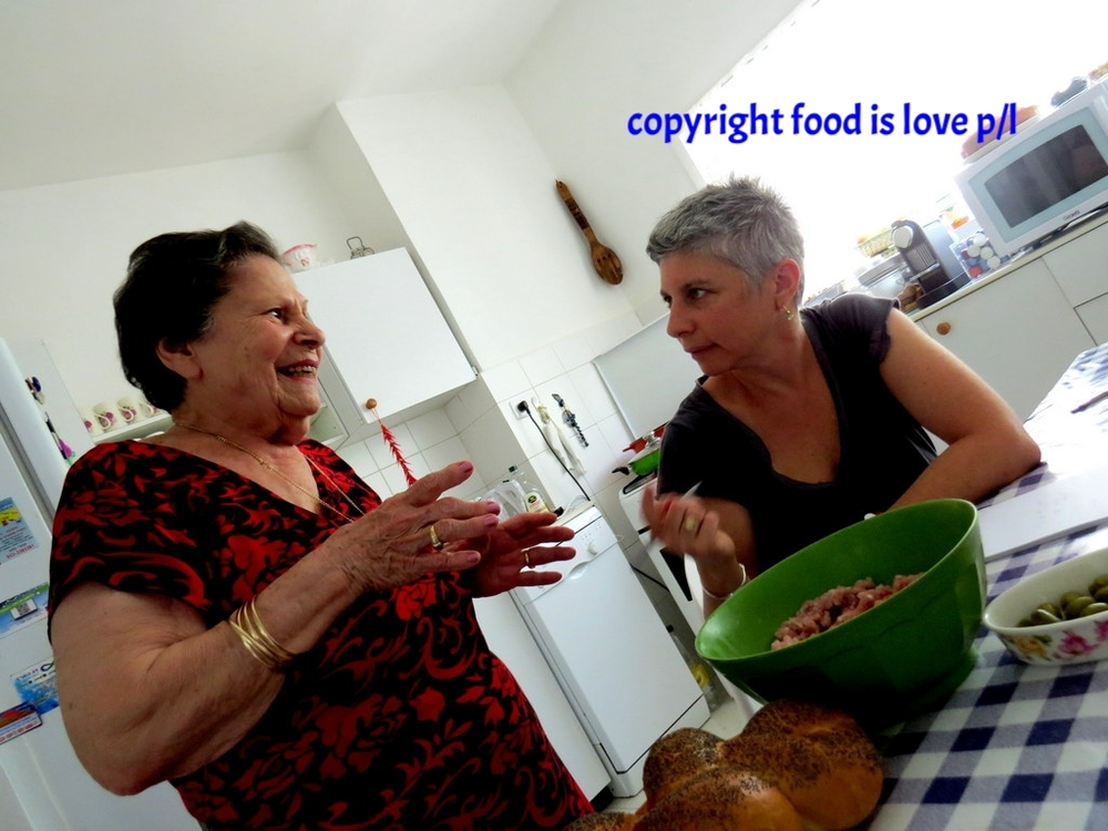 Rina shows her daughter-in-law Michele Mevorach how to make gefilte fish