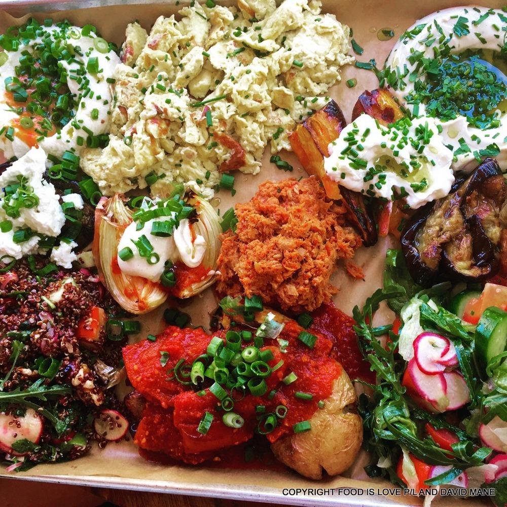 Breakfast for 2 -- or is it 6? - at Bucke cafe, Tel Aviv