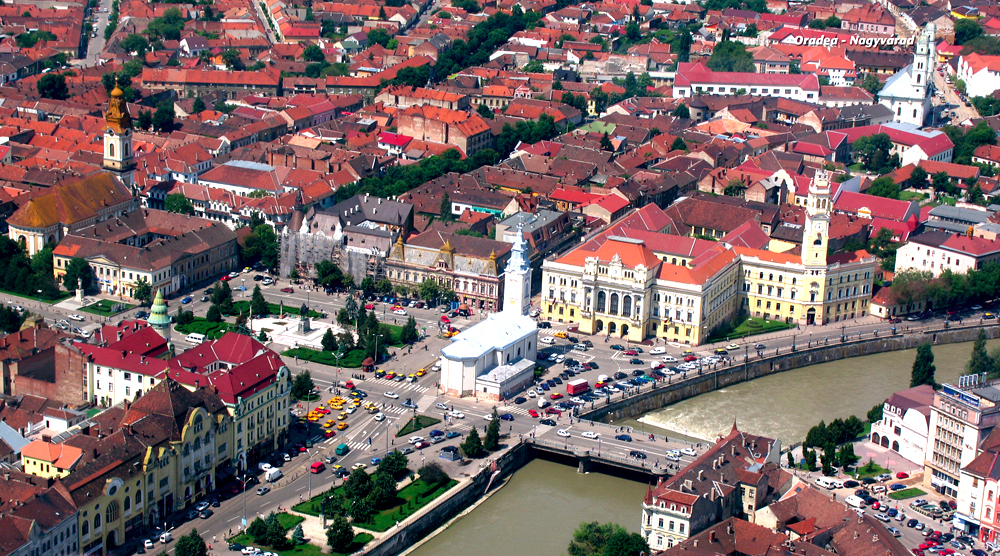 Oradea in Romania, also known by its Hungarian name, Nagyvarad (Paul Cosmin, commons)