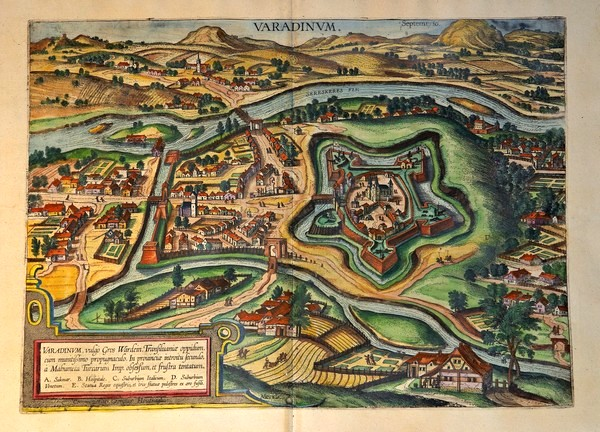 Oradea, map from 1617