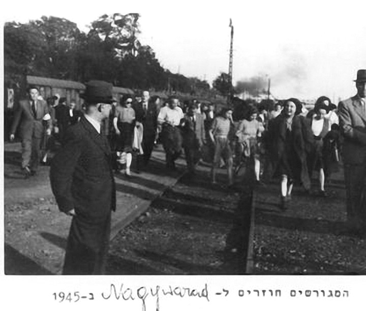 Jews returning to Oradea (Nagyvarad) after the end of the War. Only some 2000 out of a population of 25,000 survived.