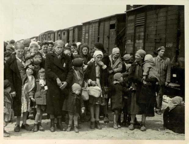 Women and children being separated after arriving at Auschwitz, May 1944. ( Photo: 'T  he Auschwitz Book' Yad Vashem archive) Children and their mothers, and old people, were sent immediately to their deaths.