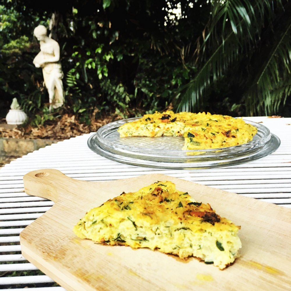 Iranian Cauliflower frittata called Kuku