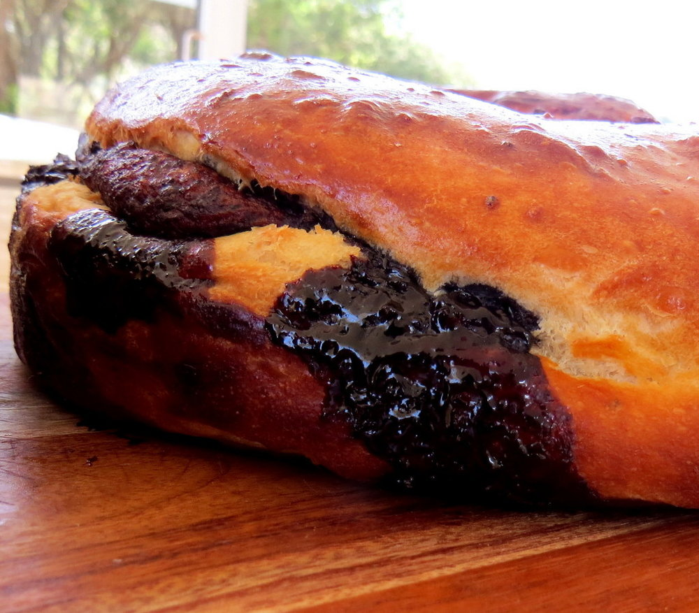 The chocolate babka - or Ugah - that Baba baked each  Friday.