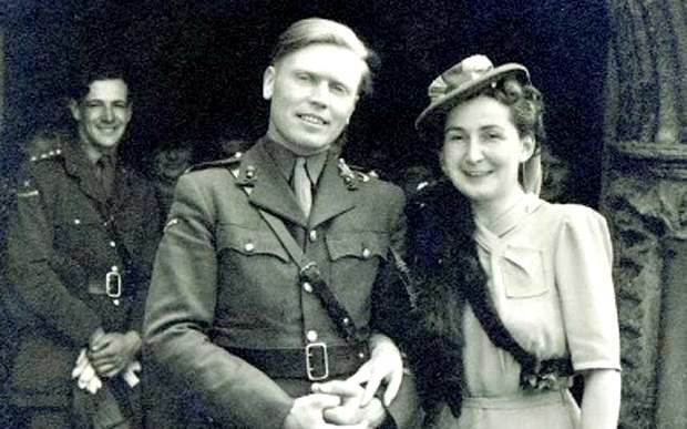 Major Ted Ruston and his new wife, Cathy. They married in 1944, the year before he saved Saba Feniger and other concentration camp survivors at Neustdadt in 1945.