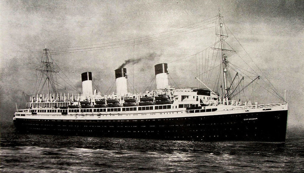 The Cap Acona, the largest of the ships bombed by the RAF in Lubeck Bay was a German luxury liner seconded as a naval vessel by the Nazis during World War II. Its final job was carrying concentration camp prisoners. More than 5,000 died on this ship alone.
