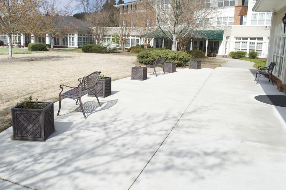 New Patio At Wesley Woods Senior Living Newnan, GA