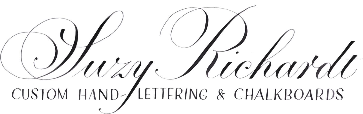 Suzy Richardt Lettering: Dayton, OH Chalkboard Signs and Calligraphy