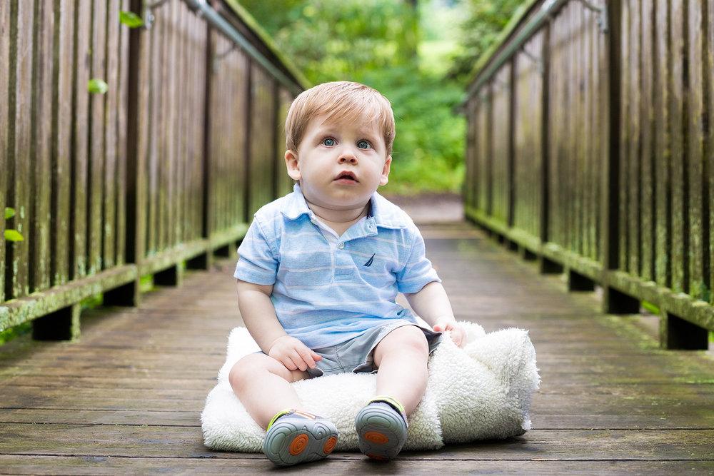 Max Dunn, 10 months old, at Frelinghuysen Arboretum in Morristown, NJ.