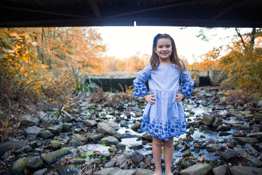 Grace Mongey gets adventurous under the bridge at Foote's Pond Park in Morristown, NJ. No trolls here, just a beautiful little girl whom we've taken pictures of for over 3 years! (There may have been wellies involved to achieve this shot.)