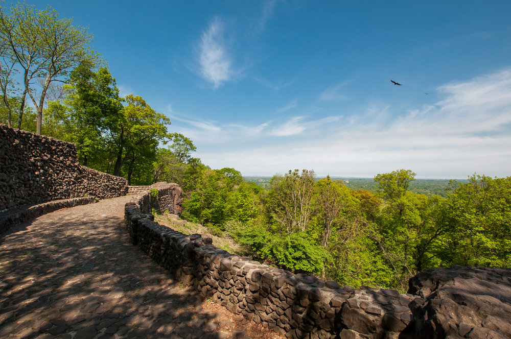 The view from Washington Rock State Park in Green Brook, New Jersey