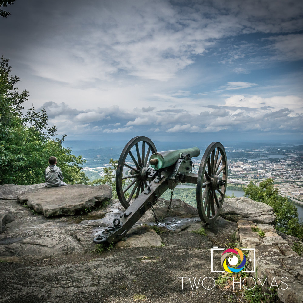 The best view of Chatanooga is at Point Park on Lookout Mountain.