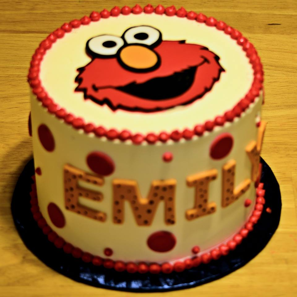 Emily's second birthday, it was all about Elmo!!!