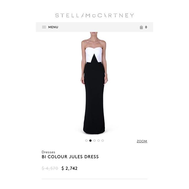 But it's on sale. #aspirations #stellamccartney #stellamccartneyalldayeveryday #fashion #stylist