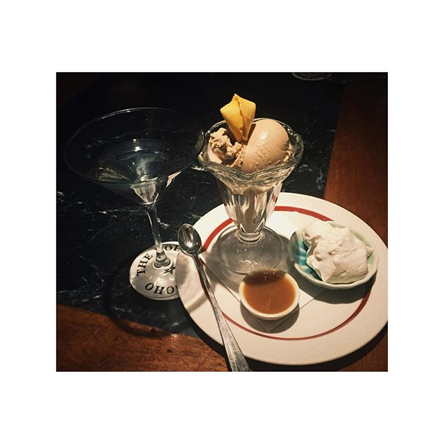 Welcome to the good life. #dirtymartini #icecreamsundaes #lifeofastylist #nohostar #nyc #sugarrush