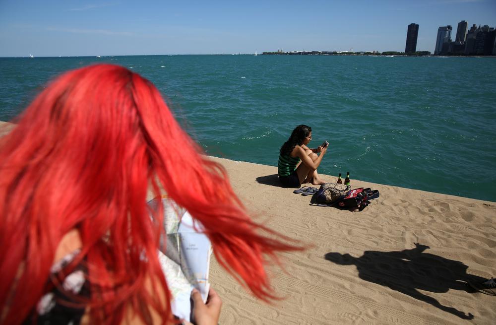 North Avenue Beach, Chicago, Ill. July, 2014.