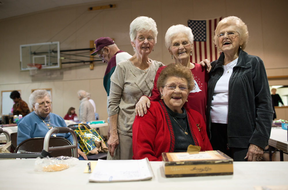 "My ""four other grandmas"" at St. Joes Park in Joliet Ill."