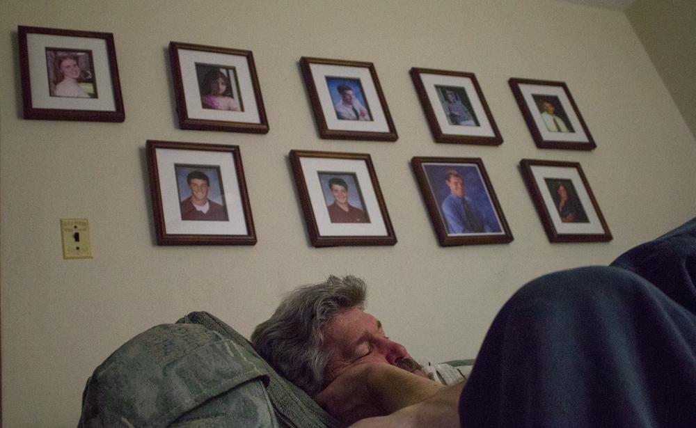 My dad sleeping Waterloo, Ill. Dec. 2011.