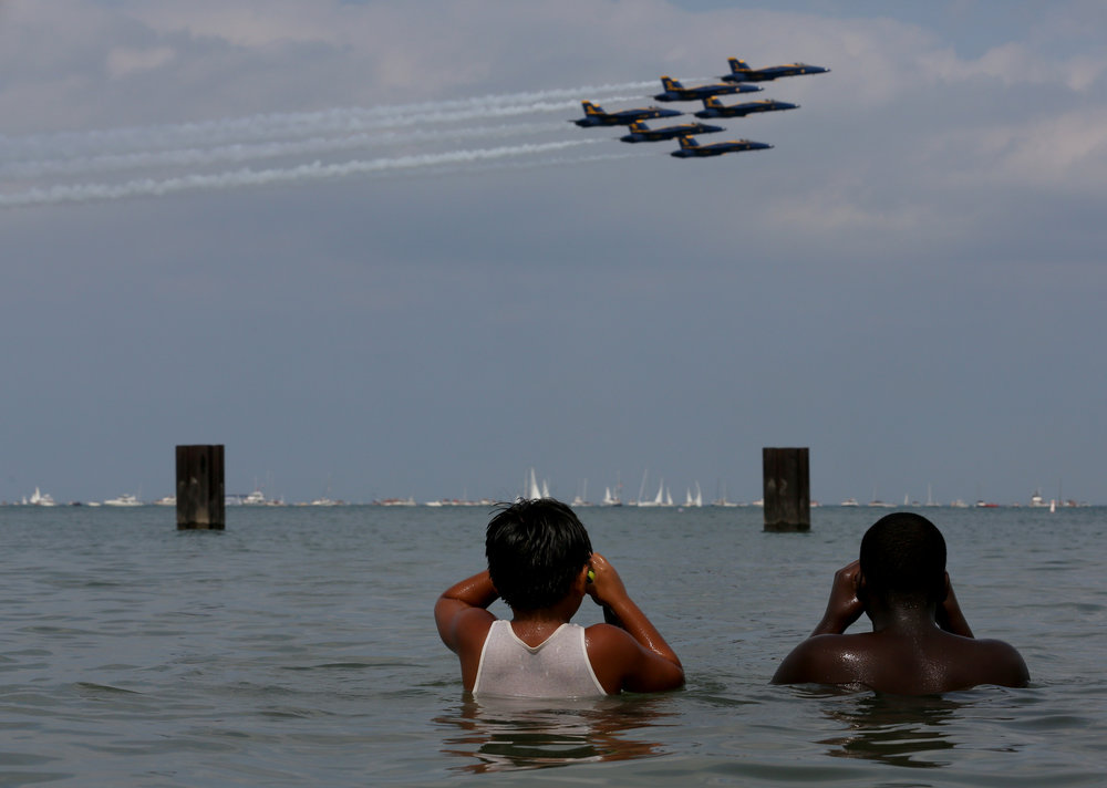Air and Water Show, Chicago, Ill. 2014.