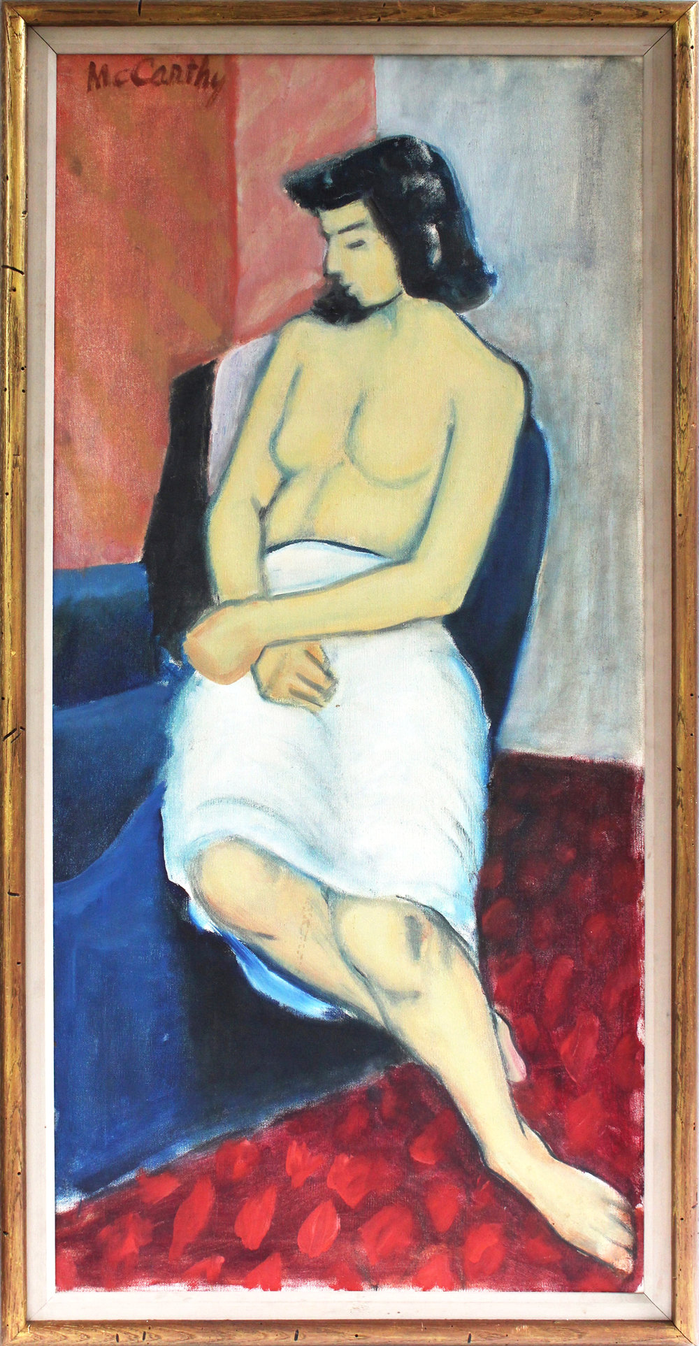 The Seated Woman, Figure Study, Circa 1950