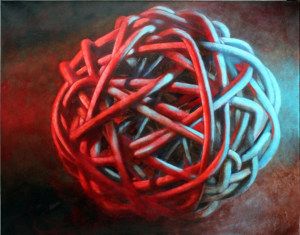 Knot No. 3 - Blue Red, 2010