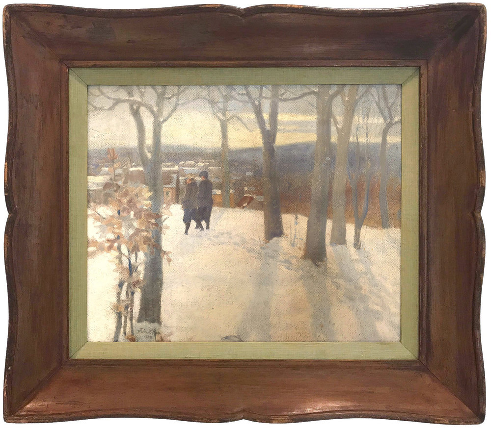 Snow Scene with Figures, 1934