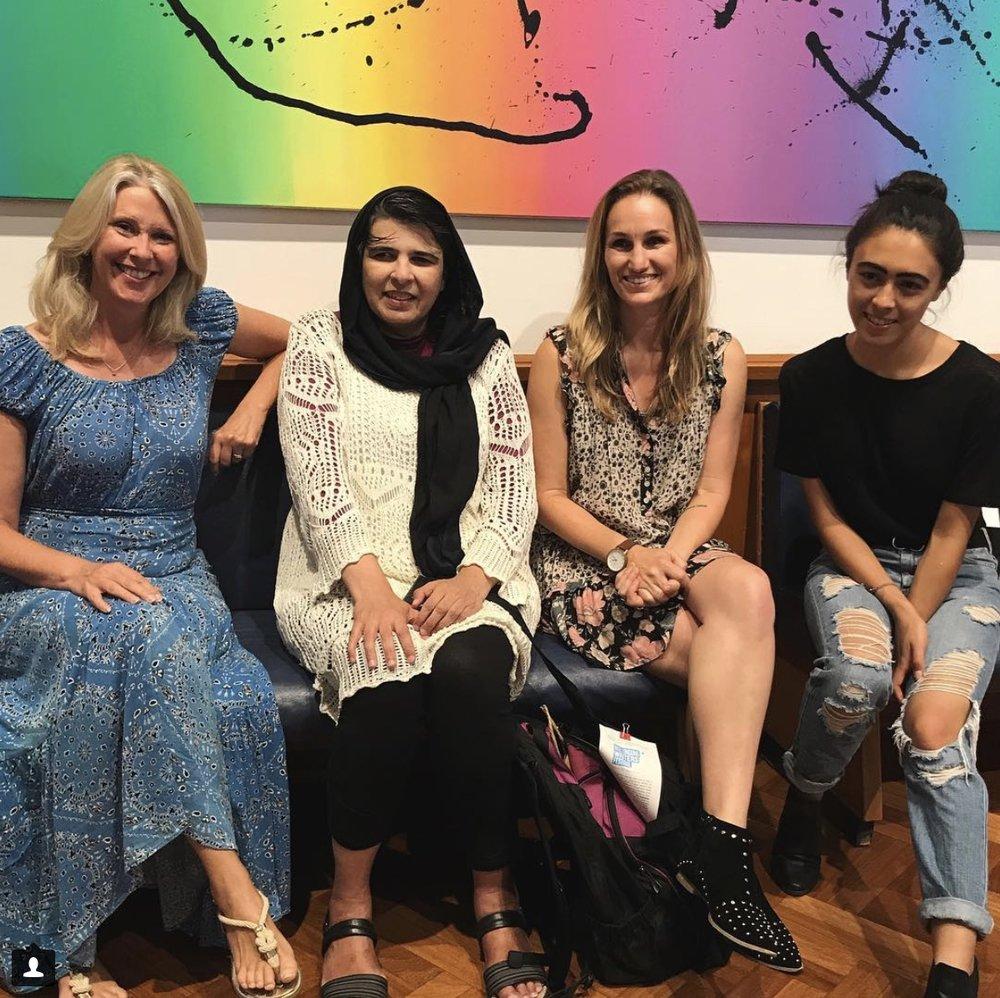 HOLDING THE SPACE: PUBLIC WOMEN  Winnie Dunn with, Shakira Hussein, @lynnettelounsbury & @traceyspicer Woollongong Writers Festival