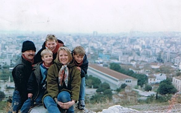 1994 Athens on the way home to Australia